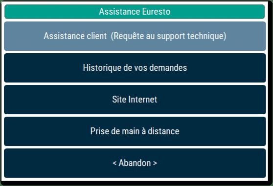 panneau de gestion web